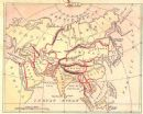 ASIA 1871:  Old Antique Map. Colored. S. S. Cornell.